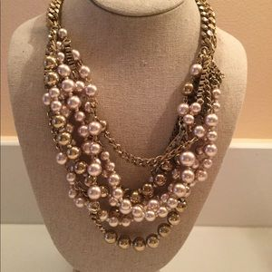 Stella & Dot gold tone chunky necklace